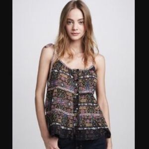 Patterson J. Kincaid || patterned ribbon tie tank